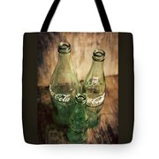 Three Vintage Coca Cola Bottles  Tote Bag