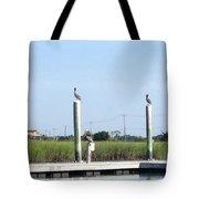 Three Watchbirds Tote Bag
