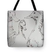 Three White Ducks Drawing Tote Bag