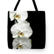 Three White Orchids Tote Bag