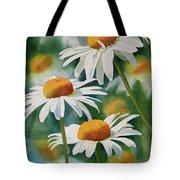 Three Wild Daisies Tote Bag by Sharon Freeman