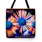 Three Wild Flowers Friendship Tote Bag