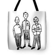 Three Workers Tote Bag