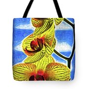 Three Yellow Orchid Blooms Tote Bag