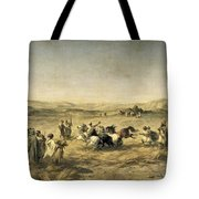 Threshing Wheat In Algeria Tote Bag