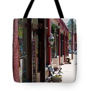Thrift Shop And Sign In Manitou Springs Tote Bag