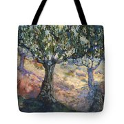 Through Ancient Olives Tote Bag