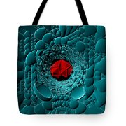 Through Blue-turquoise Tote Bag