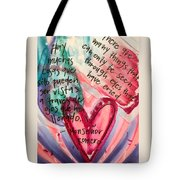 Through Eyes That Have Cried Tote Bag