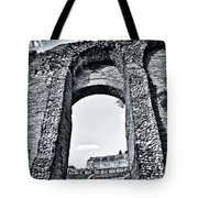 Through The Arch In A Sicily Ruin Tote Bag