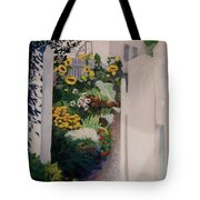 Through The Back Gate Tote Bag