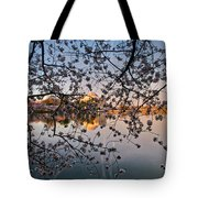 Through The Cherry Tree Tote Bag