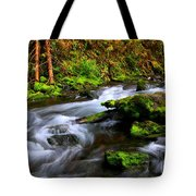 Through The Forest Floor It Flows Tote Bag
