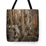 Through The Forest Trees Tote Bag