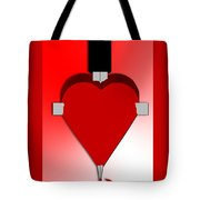 Through The Heart Tote Bag