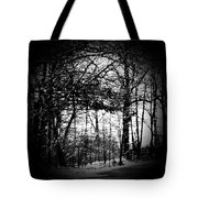 Through The Lens- Black And White Tote Bag