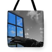 Through The Looking Glass Blue Tote Bag