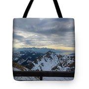 Through The Mountains  Tote Bag