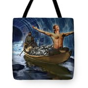 Through The Rapids Tote Bag