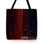 Through The Red Veil Tote Bag