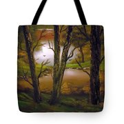 Through The Trees. Tote Bag by Cynthia Adams