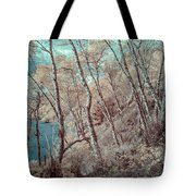 Through The Trees In Infrared Tote Bag