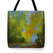 Through The Woods Abstractly Tote Bag