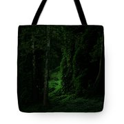 Through The Woods Dark And Deep Tote Bag