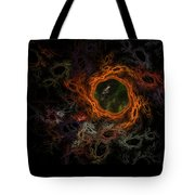 Through The Worm Hole Tote Bag