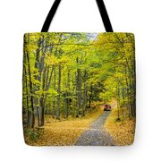 Through Yellow Woods 2 Tote Bag
