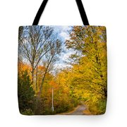 Through Yellow Woods 3 Tote Bag