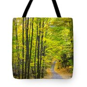 Through Yellow Woods Tote Bag