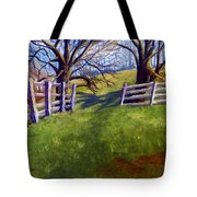 Throught The Pasture Gate Tote Bag