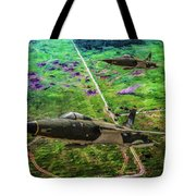 Thuds Over Vietnam Oil Tote Bag