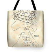 Thumb Wrestling Game Patent 1991 - Vintage Tote Bag