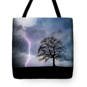 Thunder And Lightning Tote Bag
