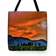Thunder Storm In The Valley Tote Bag