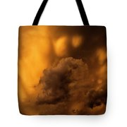 Thunder Storm Sunset #8324 Tote Bag
