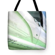 Thunderbird Abstract In Mint And White Tote Bag