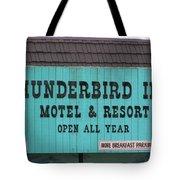 Thunderbird Inn -  Iconic Sign In Wildwood Tote Bag