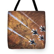 Thunderbirds In Diamond Roll Formation Tote Bag