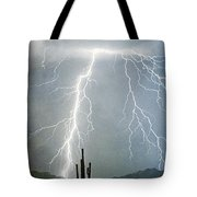 Thunderbolts From  The Heavens Above Tote Bag