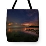 Thunderclouds On Horizon Tote Bag