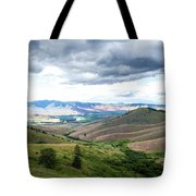 Thunderclouds Over The Hills Tote Bag
