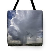 Thunderstorm And Road Tote Bag