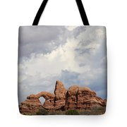Thunderstorm Clouds Over Turret Arch Tote Bag