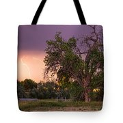 Thunderstorm In The Woods Tote Bag