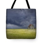 Thunderstorm On The Prairie Tote Bag