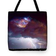 Lightning Thunderstorm Over Dacono Tote Bag