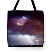 Lightning Thunderstorm Over Dacono Tote Bag